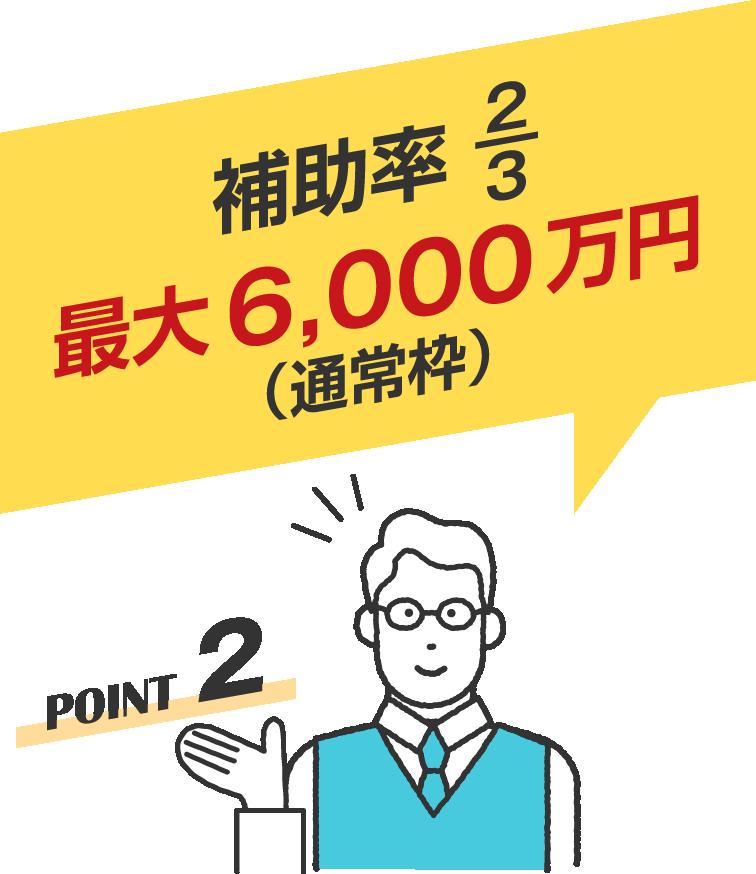 事業再構築補助金の補助率は最大6000万円